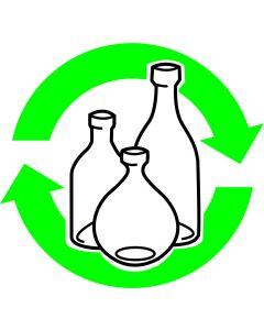 """Recycle Skilt """" Flasker """""""