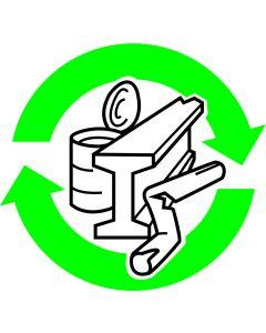 """Recycle Skilt """" Metal """""""