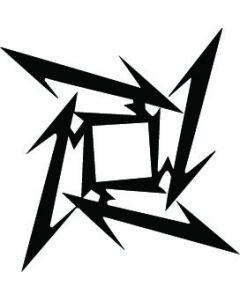 Metallica Ninja star, konturskåret, 3519 fra