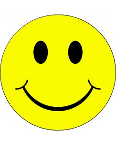 """Strygemærke """"Smiley"""""""