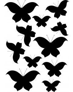 Sommerfugle2 på A4-ark, konturskåret vr nr 3821