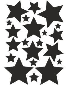 Stjerner1 på A4-ark, konturskåret vr nr 3829