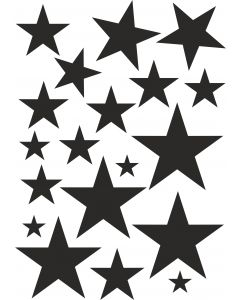 Stjerner2 på A4-ark, konturskåret vr nr 3824