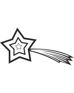 Stjerneskud 2, konturskåret,4512 fra