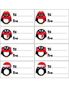 Jule til og fra kort A5