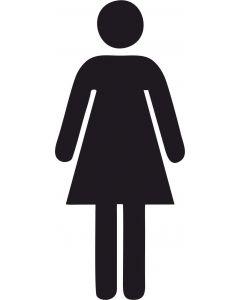 Toiletskilte, Dame