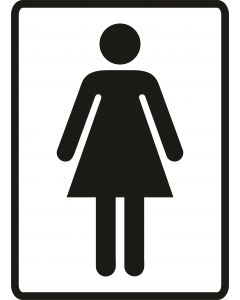 Toiletskilte Dame