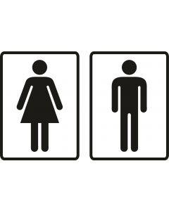 Toiletskilte med Damer og Herre