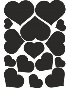 Hjerter3 på A4- ark til Wall-stickers vr nr 3847