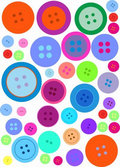 Pynte knapper, A3 ark