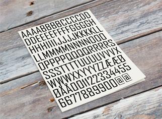 Danmarks største udvalg af A4 ark med selvklæbende bogstaver